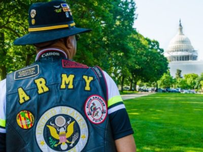 Army Veteran standing in front of D.C. Capitol Building