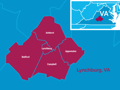 Lynchburg, VA map